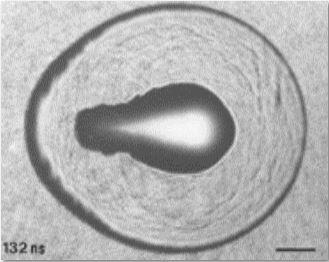 Foto eines lasererzeugten Plasmas in Wasser
